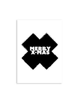 """Kerstkaart """"Merry X"""""""