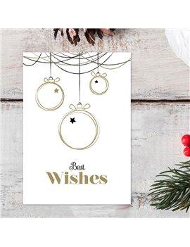 "Kerstkaart ""Best Wishes"""
