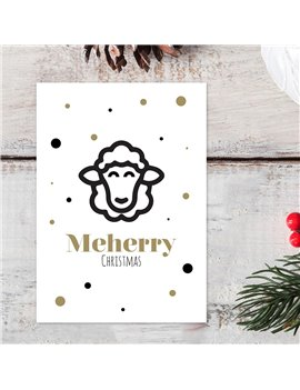 """Kerstkaart """"Meherry Christmas"""""""