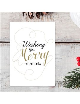 "Kerstkaart ""Merry Moments"""