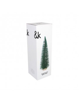 kerstdeco mini spar Glitter Green Large - &Klevering