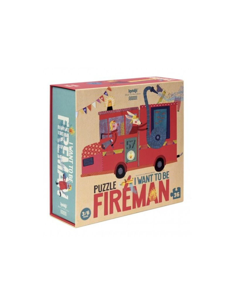 Brandweerman puzzel - Londji