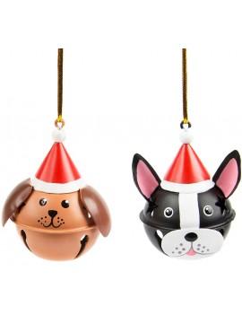 Hond kersthanger met bel - Sass & Belle