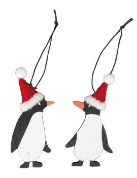Kersthanger pinguin met kerstmuts - Sass & Belle