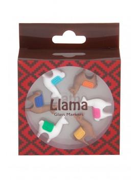 Lama glas markering (set van 6)