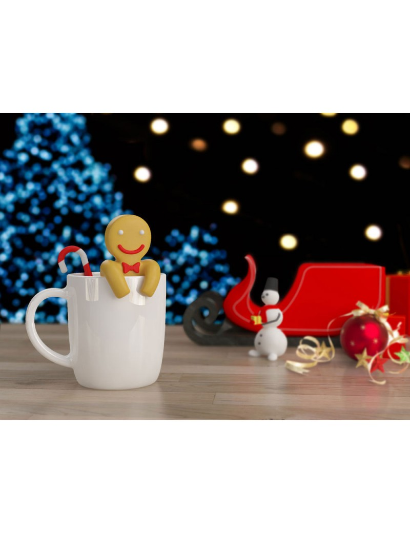 Gingerbread thee infuser kerst