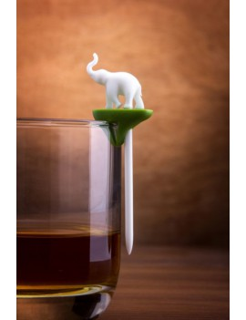 Cocktailprikkers en glasmarkering wilde dieren - Qualy