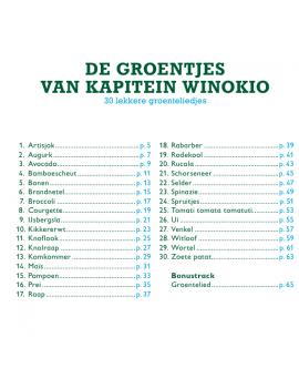 De groentjes van Kapitein Winokio boek + cd