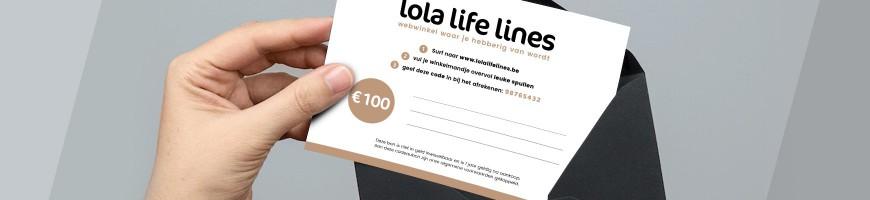Lola Life Lines cadeaubon